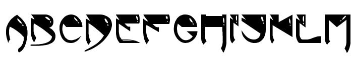 Alien Bold Font LOWERCASE