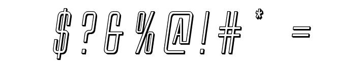 Alien League 3D Italic Font OTHER CHARS
