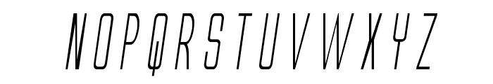 Alien League Condensed Italic Font UPPERCASE