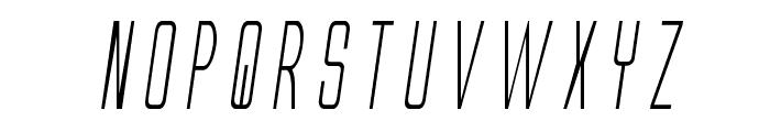 Alien League Condensed Italic Font LOWERCASE