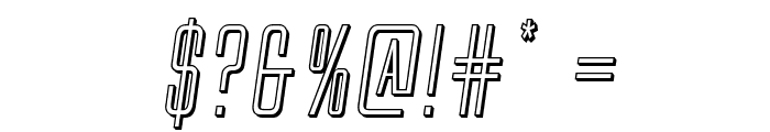 Alien League II 3D Italic Font OTHER CHARS