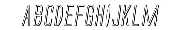 Alien League II 3D Italic Font UPPERCASE
