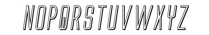 Alien League II 3D Italic Font LOWERCASE