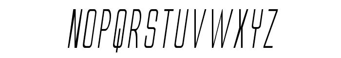 Alien League II Condensed Italic Font UPPERCASE