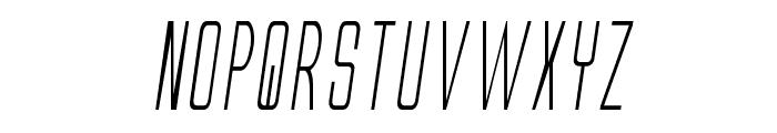 Alien League II Condensed Italic Font LOWERCASE