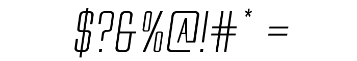 Alien League II Expanded Italic Font OTHER CHARS