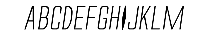 Alien League II Expanded Italic Font UPPERCASE