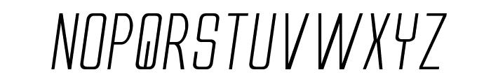 Alien League II Expanded Italic Font LOWERCASE