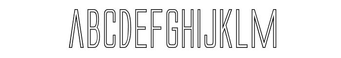 Alien League II Outline Font LOWERCASE