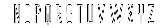 Alien League Outline Font UPPERCASE