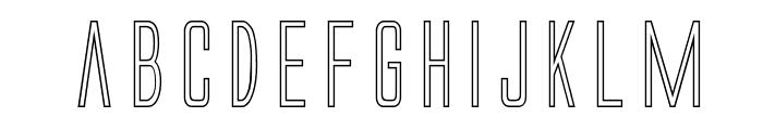 Alien League Outline Font LOWERCASE