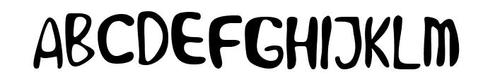 Alien Learns To Write Font UPPERCASE