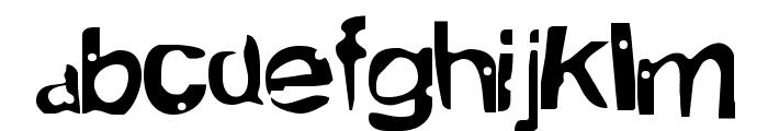 Alien MarksmanRegular Font LOWERCASE