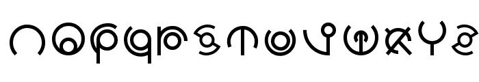 Alien Sans Latin basic Font LOWERCASE