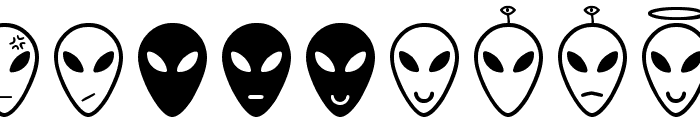 Alien faces St Font UPPERCASE