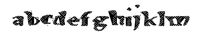 AlienWaffle Font LOWERCASE