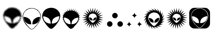 Alienator Font OTHER CHARS