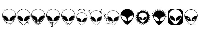 Alienator Font UPPERCASE