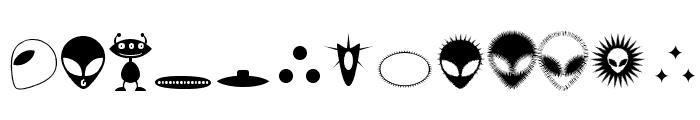 Alienator Font LOWERCASE