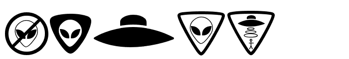 Aliencons TFB Font OTHER CHARS