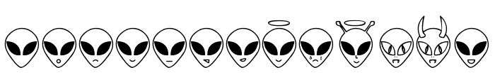 Aliencons TFB Font UPPERCASE