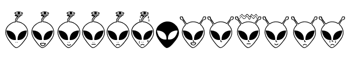 Aliencons TFB Font LOWERCASE