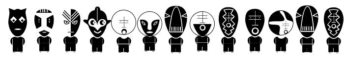 AliensInverse Font UPPERCASE