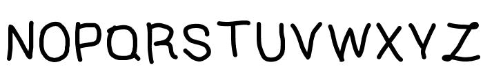 Alifia's Handwritten 1 Font UPPERCASE
