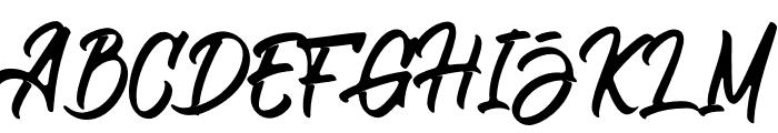 Aligore Font UPPERCASE