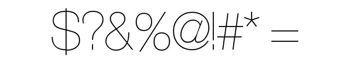 Aliquam UltraLight Font OTHER CHARS