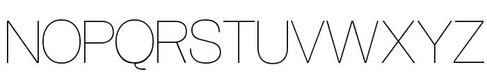 Aliquam UltraLight Font UPPERCASE