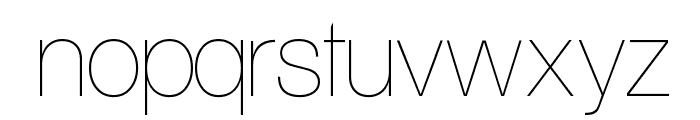 Aliquam UltraLight Font LOWERCASE