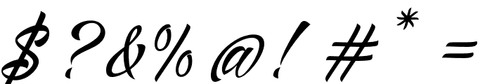 AlisandraScript Font OTHER CHARS
