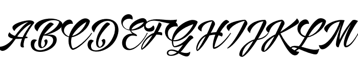 AlisandraScript Font UPPERCASE