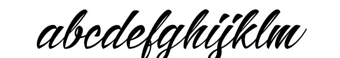 AlisandraScript Font LOWERCASE