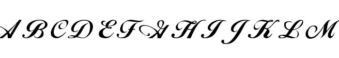 Alison Regular Font UPPERCASE