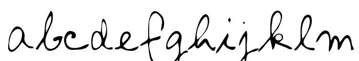 Aljo Regular Font LOWERCASE