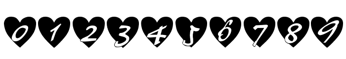 All Hearts Font OTHER CHARS