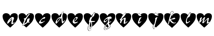 All Hearts Font LOWERCASE