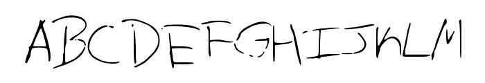 AllensMess Font UPPERCASE