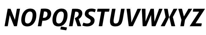 Aller Bold Italic Font UPPERCASE