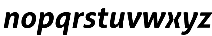 Aller Bold Italic Font LOWERCASE