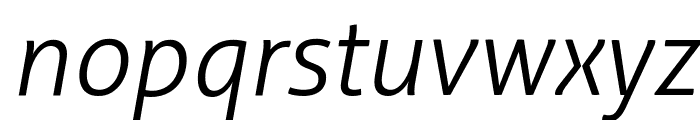 Aller Light Italic Font LOWERCASE