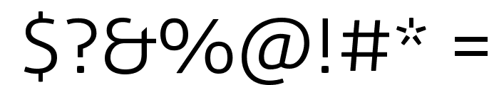 Aller Light Font OTHER CHARS