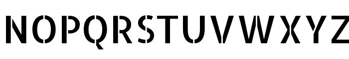 Allerta Stencil Regular Font UPPERCASE
