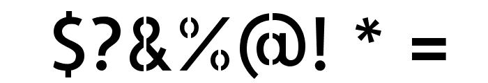 AllertaStencil-Regular Font OTHER CHARS