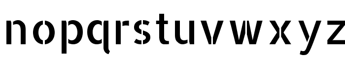 AllertaStencil-Regular Font LOWERCASE