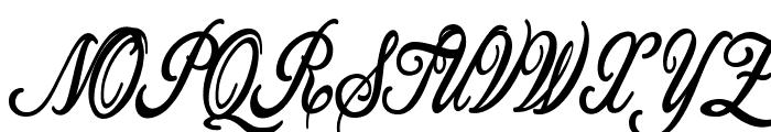 Allicia Personal Use   Cursive Font UPPERCASE