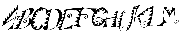 Alligator Puree Font UPPERCASE