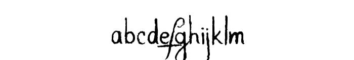 AlligatorSky-Regular Font LOWERCASE